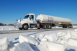 Image of a CHS Fuel delivery truck in winter