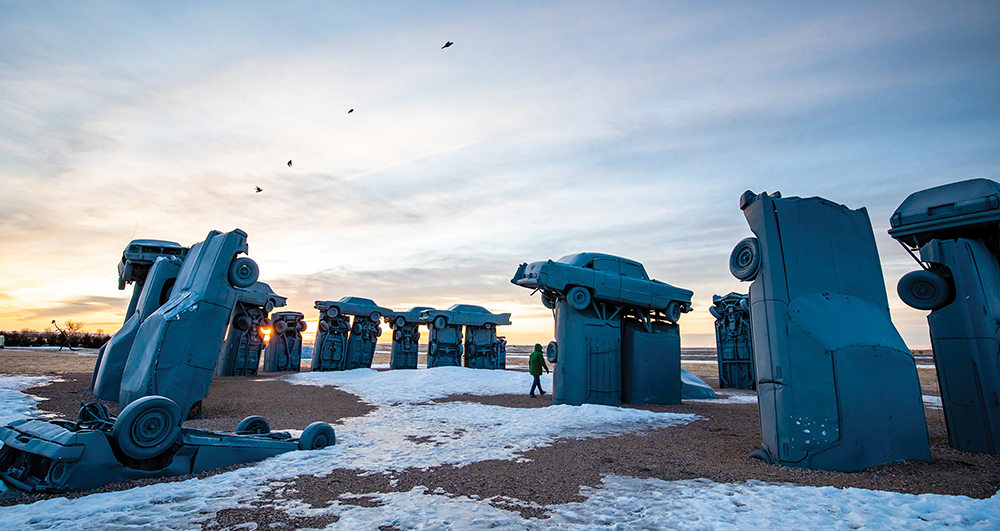 Carhenge, a monument made of cars