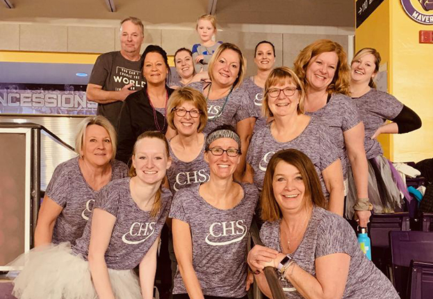 Group of women dressed in CHS shirts