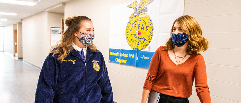Jenna Tollefson, student (left); Janelle Hueners, ag teacher (left), Detroit Lakes High School