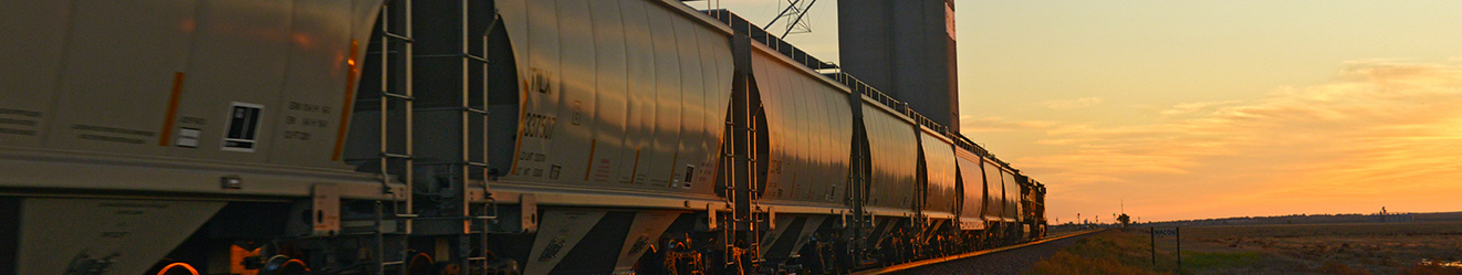 Grain Marketing, 1322x249, train, transportation, CHS transportation, sunset, Transporting goods,  rail, rail cars, elevator, Perspective, sky, traveling, shipping and receiving, shipping, traveling,