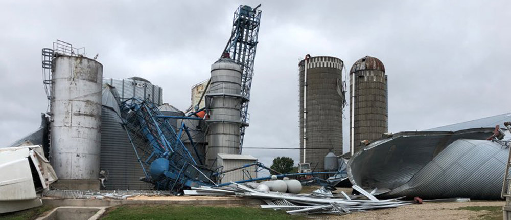 Tornado stricken farm